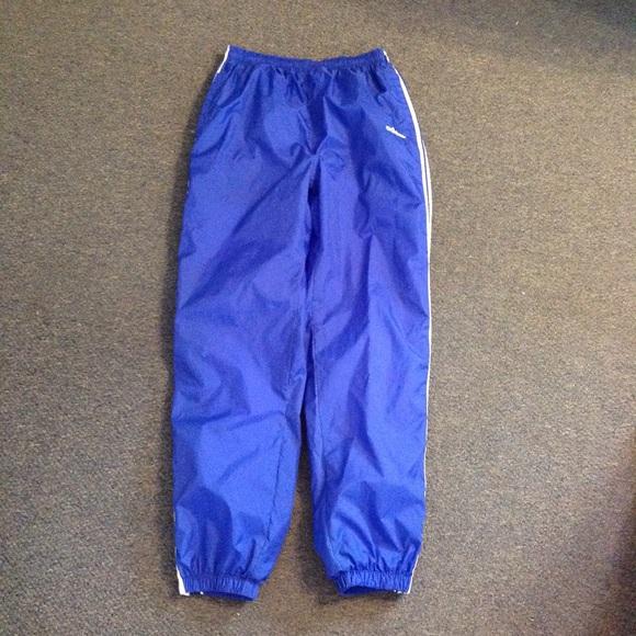Vintage Adidas Blue Nylon Lined Track Pants M